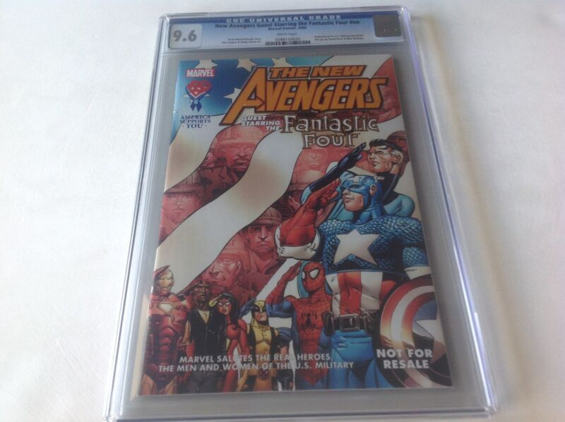 NEW AVENGERS STARRING FANTASTIC FOUR CGC 9.6 WOLVERINE 50% DONATION TO CHARITY