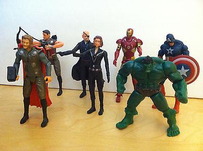 7 PC The Avengers Hulk + Captain America + Black Widow +Iron Man +Thor US - The Avengers Black Widow