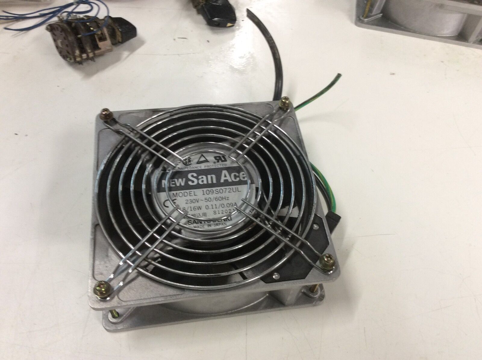 Sanyo Denki San Ace Electrical Fan, 109S072UL, 230V, Used, WARRANTY