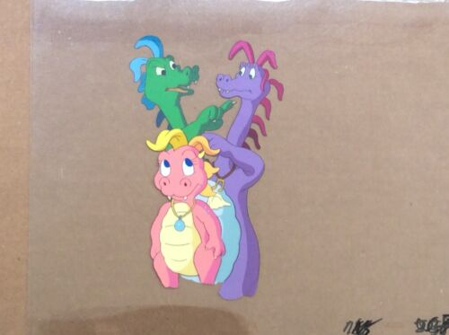 DRAGON TALES 4 Animation Cels Set Up and Drawing 2000