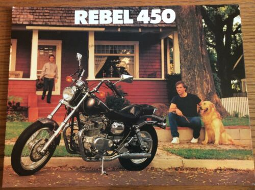 VINTAGE 1986 HONDA REBEL 450 MOTORCYCLE SALES BROCHURE