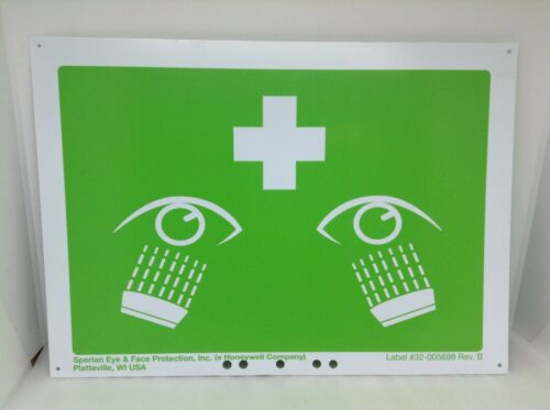 Fendall Pure Flow 1000 Eye Wash Station Part 2 Sided Plastic Sign