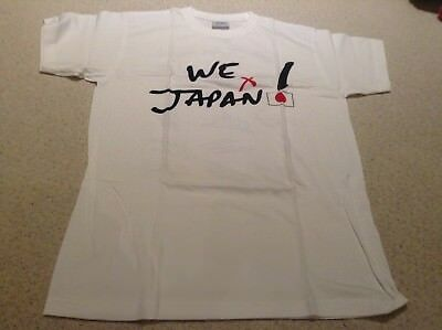 MotoGP Dorna rider signature I Love Japan tshirt SIze S Japanese disaster relief