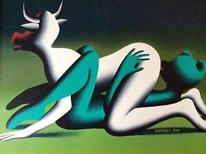 Erotic-Art-Museum-Miami-Mark-KOSTABI-Original-1996-Signed-Oil-Italy-Sex-Rare