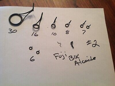 Free Shipping Fuji Alconite K-Series  KWAG 6 Guide Spin Set Size 50 to 20