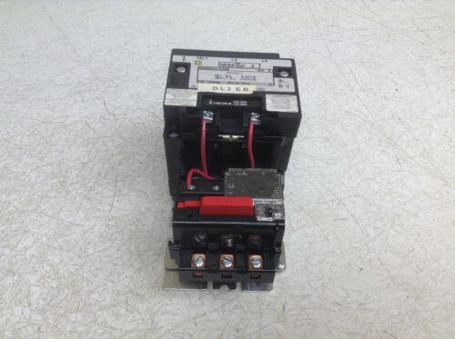 Square D 8536SDO1H30S Motor Starter 120/110 VAC Coil Size 2 8536 SDO1 H30S SD01