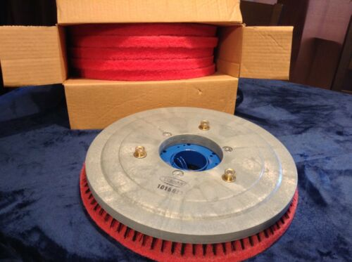 """New Tennant 1016813 OEM Pad Driver Assembly Brush 16"""" for T2 , T3  w/ 6 New Pads"""