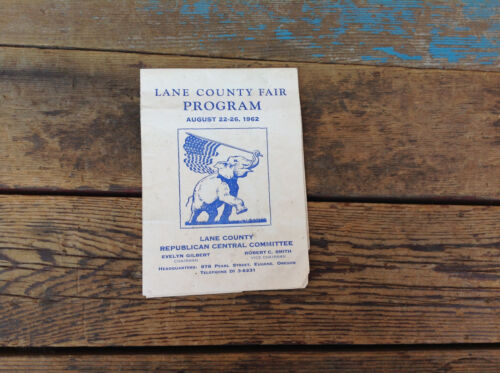 1962 Lane County Fair Republican Party Program
