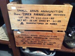 Wooden Small Arms Ammunition boxes crates