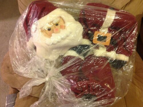 """36""""  Poseable Santa Claus Doll  Super cute - Gently Used Fast Shipping"""