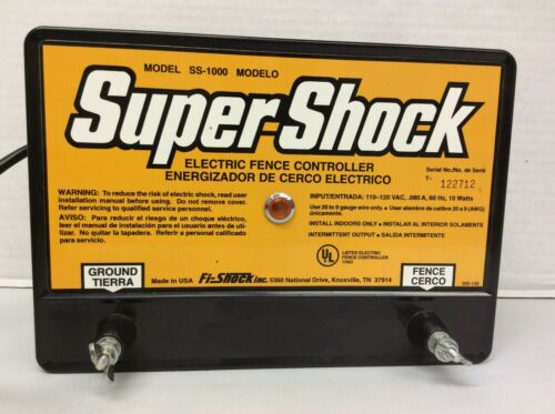 Fi-Shock 20 Miles Electric Fence Controller #SS-1000