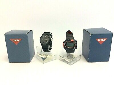 Two Timex Chronograph Quartz Watches Wristwatches 371 Cell Marathon 50 Parts  for sale  Shipping to India