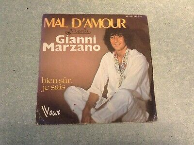 "Disque vinyle 45 tours ""B3M"" /Gianni marzano, mal d'amour"