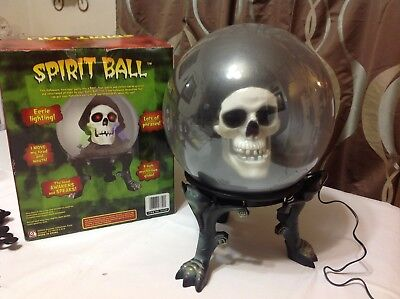 Gemmy Animated Talking Floating Spirit Ball Sound Activated Grim Reaper  2005