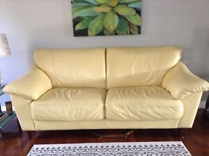 Soft Italian leather 3 seater couch
