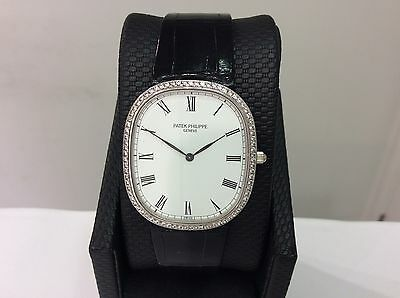 PATEK PHILIPPE Ref. 3738/100 ELLIPSE 18K White Gold Watch w/ Diamonds! SUPERB!!!