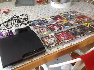 PLAYSTATION 3 WITH 15 GAMES AND 2 CONTROLLERS Halls Head Mandurah Area Preview