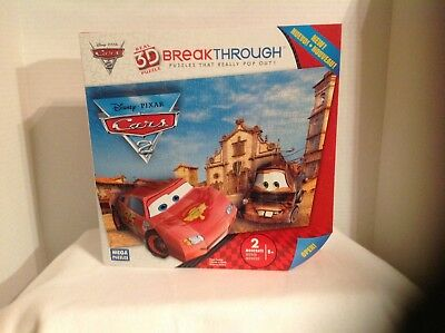 Disney REAL 3D breakthrough pop out puzzle Cars