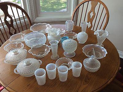 Vintage Fenton Obalescent Hobnail Glass