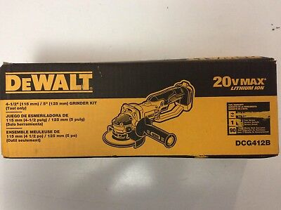 DEWALT DCG412B 20V 20 Volt Max Lithium Ion 4 1/2