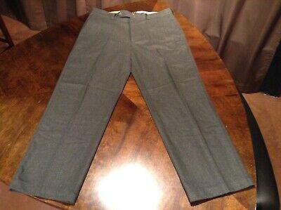 Gap Dark Green Wool Blend Medns 40 x 32 Flat Front Pants Trousers