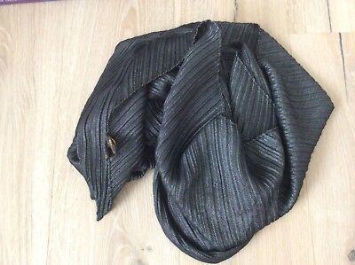 Loro piana shawl scarf pashmina metallic black