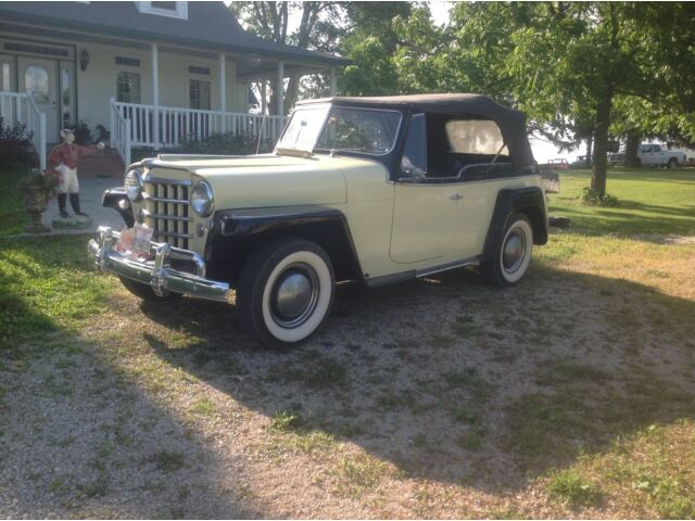 Willys Jeepster 6cy 1950 willys jeepster convertible 6 cyl l 161 lightning daily driver low reserve