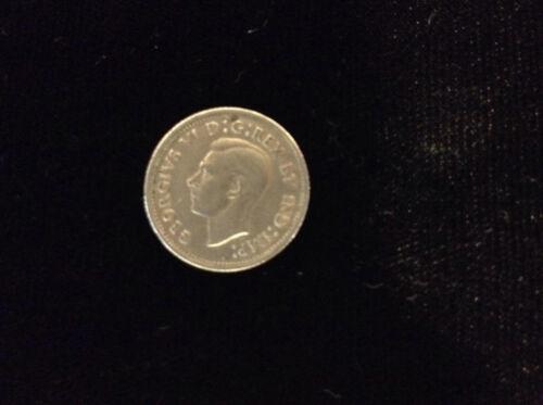 1942 Canada Ten Cent 80% Silver Coin