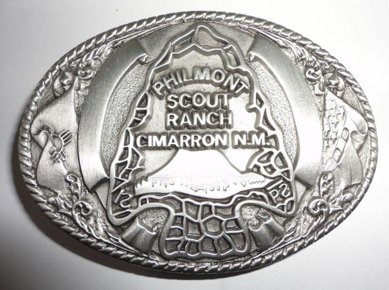 Philmont Scout Ranch Pewter Arrowhead Belt Buckle - Boy Scouts of America BSA