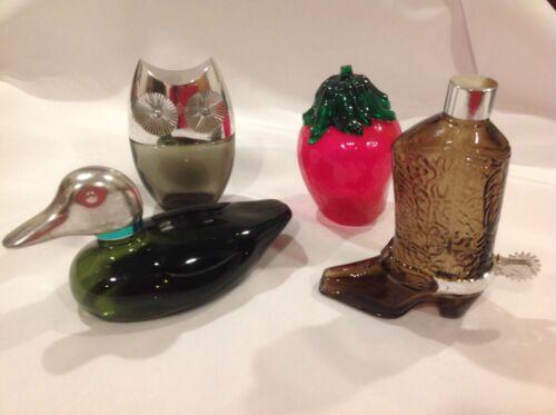 Lot of Avon Aftershave/Perfume Bottles, Bubble Bath, Malard, Strawberry, Boot