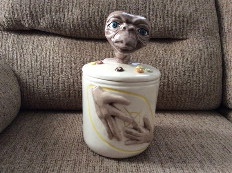 Vintage Rare ET Cookie Jar Canister Steven Spielberg