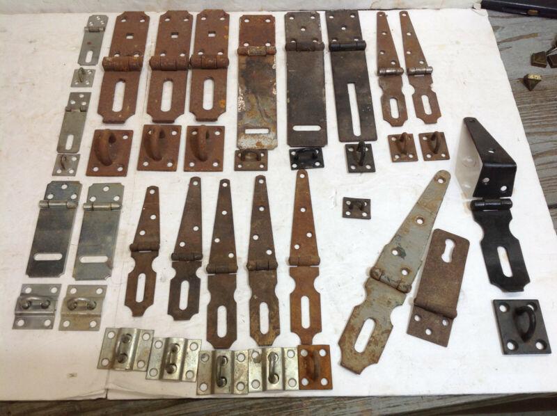 Lot Of Antique Vintage Lock Hasp Hinge Latch Rusty Barn Hardware Parts