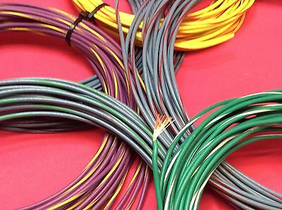 18 Gauge Awg Stranded Primary Wire 5 Blue Yellow Usa Made Best In Quality