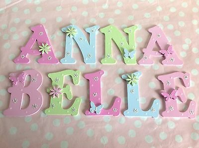 New Baby/Girls Name Wooden Letter Bedroom Nursery Door Wall Art ANY COLOUR/THEME