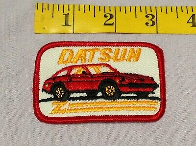 Vintage DATSUN Z Patch Stitched Embroidered Car Auto NOS NEW for Jacket Hat Bag