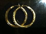 14k Gold Hoop Earrings 3