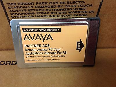 Avaya Partner Acs Pc Card Applications Interface For R6 700429251