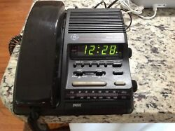 GE DUAL ALARM CLOCK AM/FM RADIO & TELEPHONE / PHONE 2-9219WBB / 2-9720A NICE!