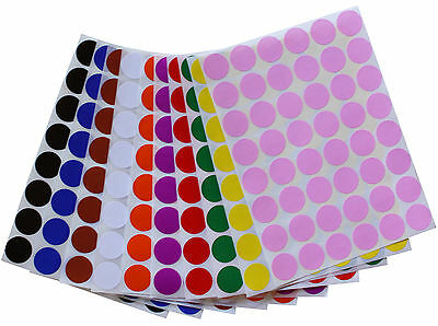 Round Small Dots 17mm Stickers Color Coded Labels 34 Inch Diameter 336 Pack