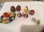 Vintage Vegetable Salt and Pepper Shakers