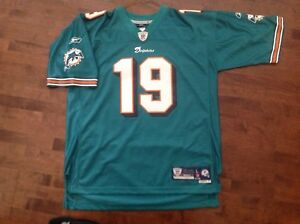 NFL Miami Dolphins football jersey #19 Marshall size L, $20