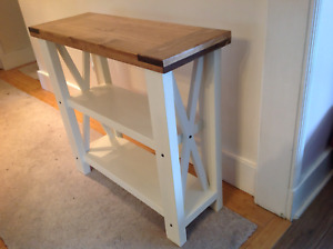 Custom crafted couch or sofa table
