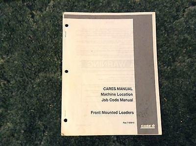 7-85910 - A New Job Code Manual For A Caseih 520 890 2200 2250 Front Loaders
