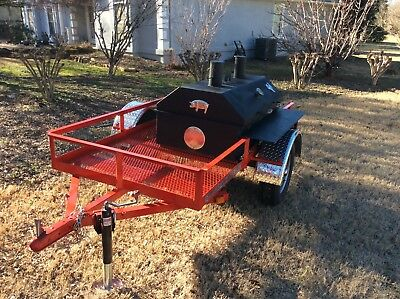 Bbq Pit Charcoal Wood Smoker Trailer Mounted Bbqcatering Fund Raiser