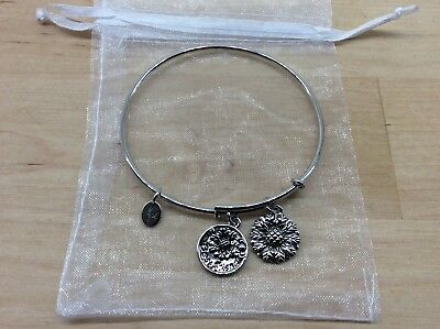 Best Friend Expandable Bangle by CHRYSALIS  Rhodium flash