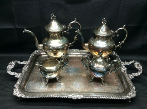 Vintage Birmingham Silver Company Silver Plated Tea Set