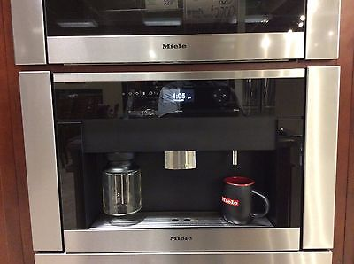 """CVA6401SS-MIELE 24"""" Non Plumbed SS Steel Built-In Coffee System USED DISPLAY"""