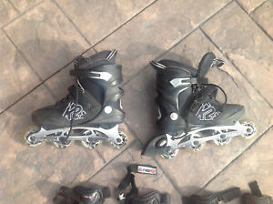 Roller Blades Size 8 with protective padding