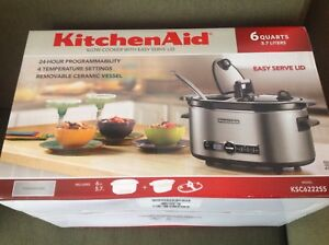 6 quart in box unopened programmable crockpot