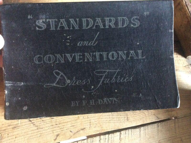 Antique Salesman Sample Of Various Brand Names Fabric For Dresses, P.H. Davis